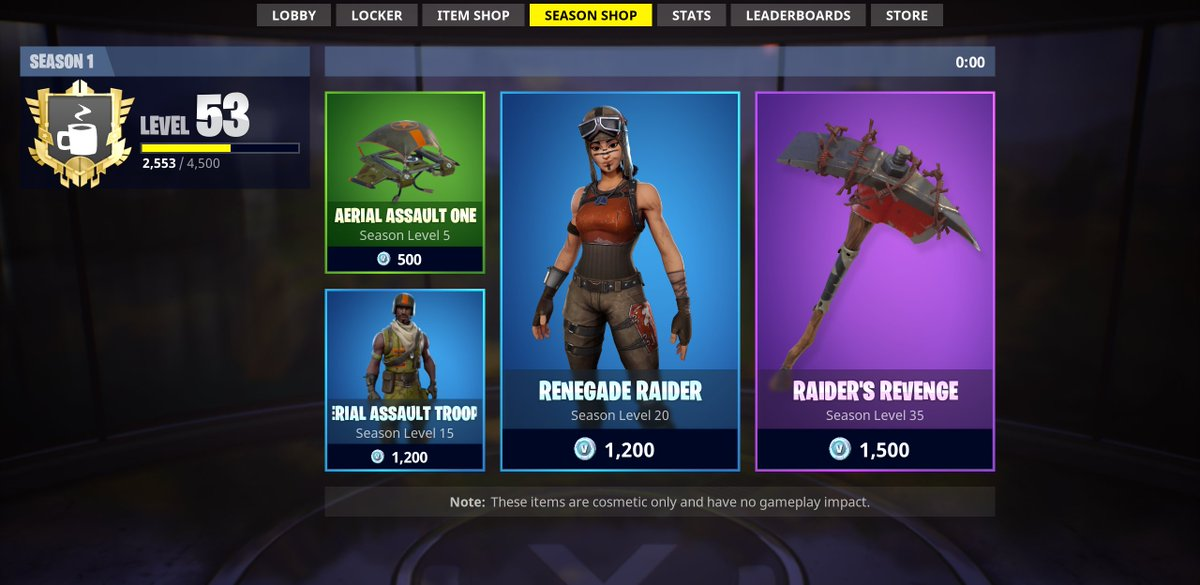 fortnite news fnbr news on twitter season shop timer has hit 0 00 but the items haven t changed will post if there are any updates from epic - current items in fortnite store
