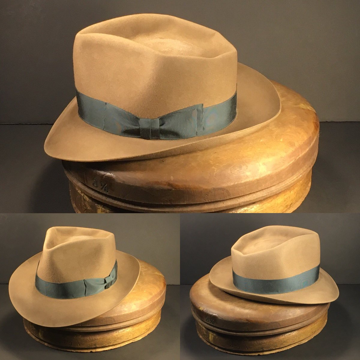 bb41097ec0b08 Just finished this whiskey colored 6 point diamond crease with iron colored  vintage grosgrain ribbon.  penmanhats  OnlyPenman  penmanhats  bespoke ...