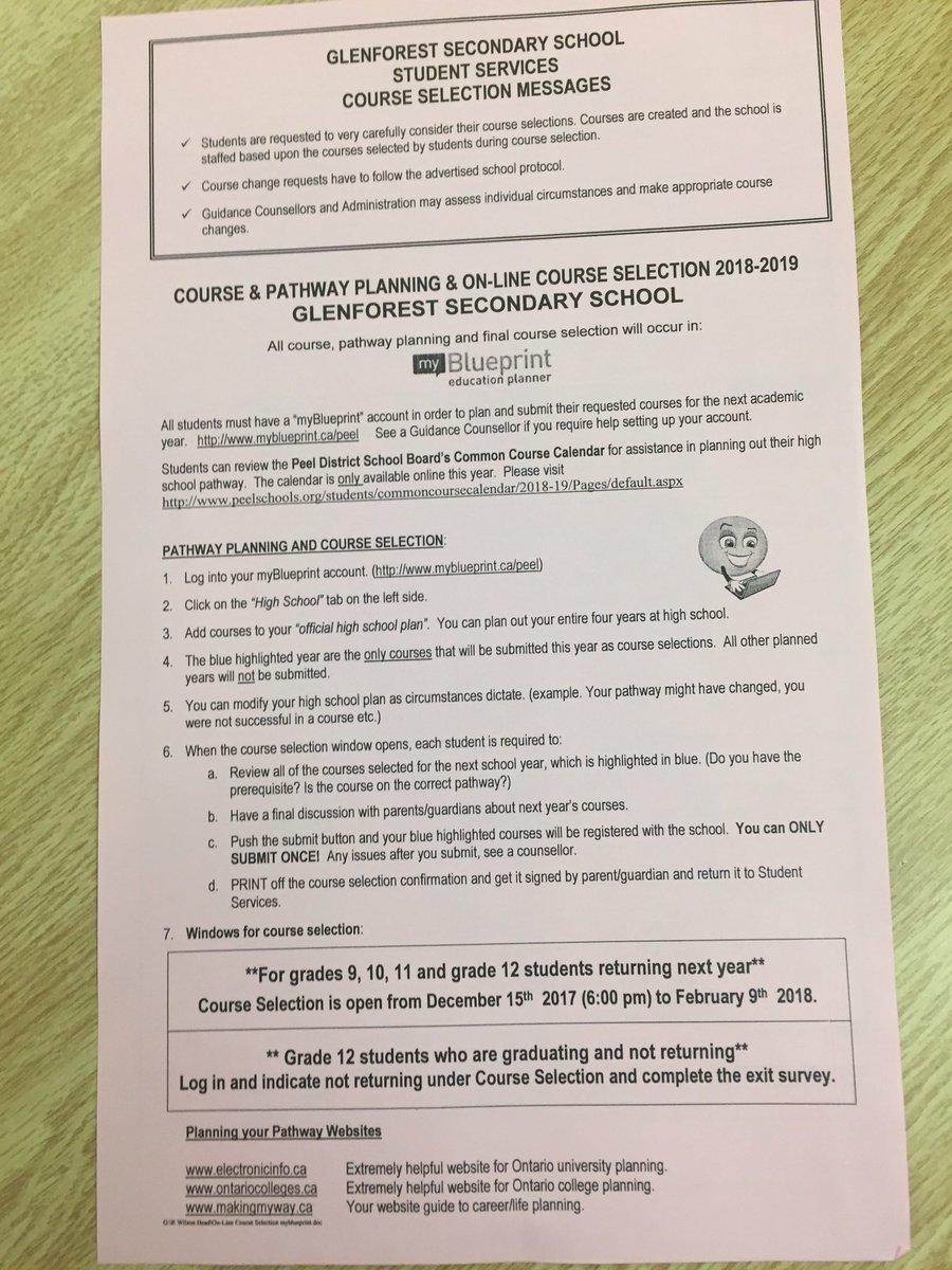 Glenforest guidance on twitter course selection sheets for 2018 glenforest guidance on twitter course selection sheets for 2018 19 malvernweather Image collections