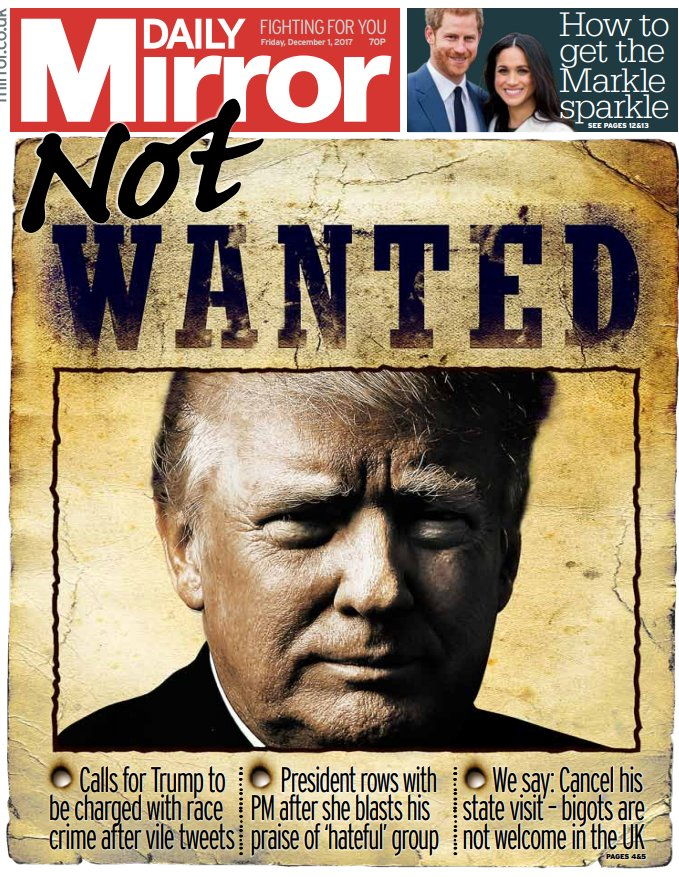 DAILY MIRROR FRONT PAGE: 'Not wanted' #skypapers