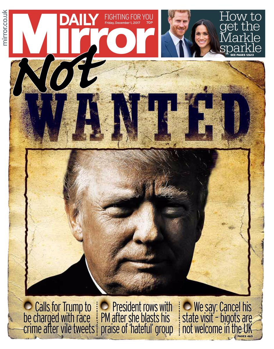 Friday's Daily Mirror: 'Not wanted' #tomorrowspaperstoday #BBCpapers (via @BBCHelenaLee)