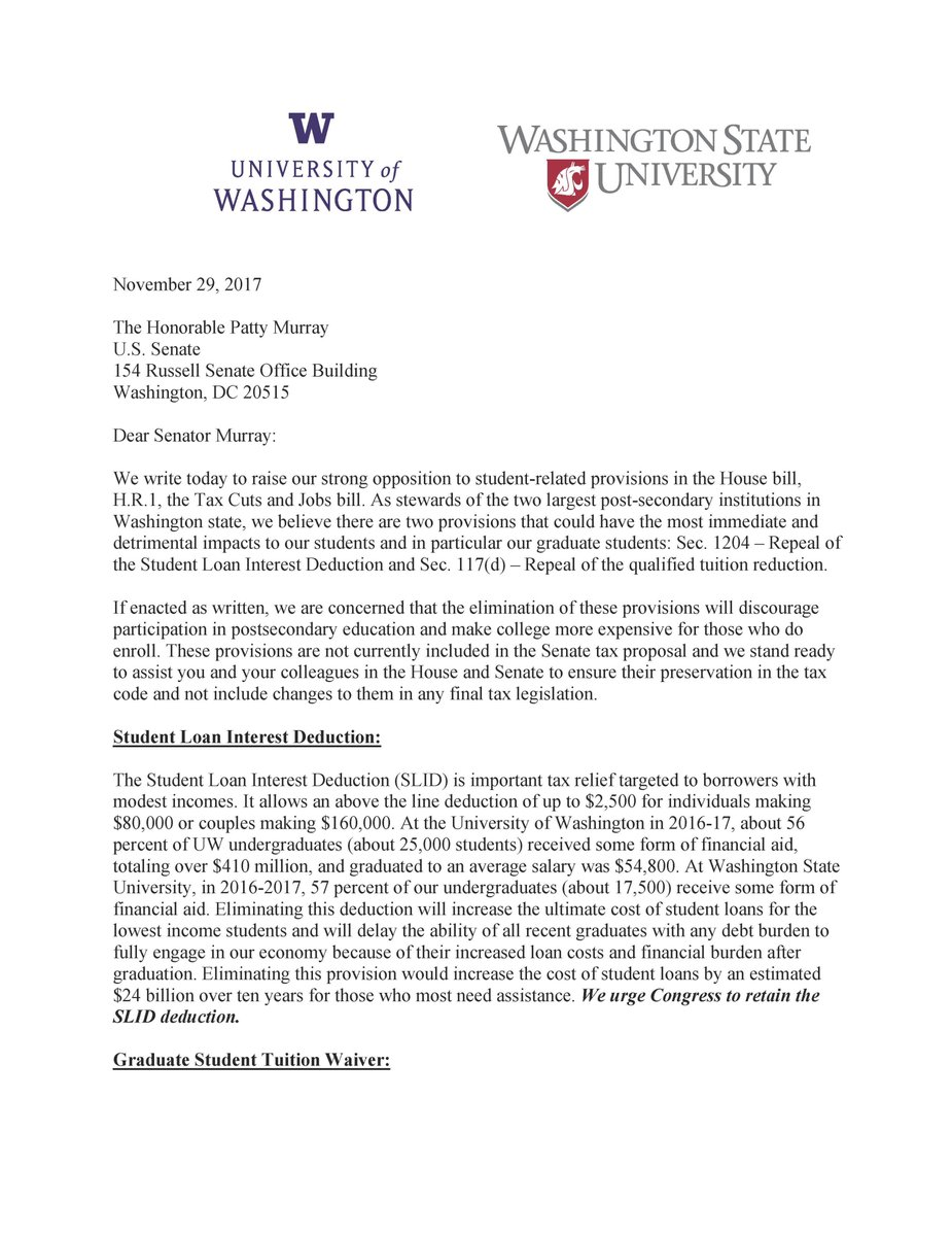 kirk h schulz on twitter a joint letter from uw president