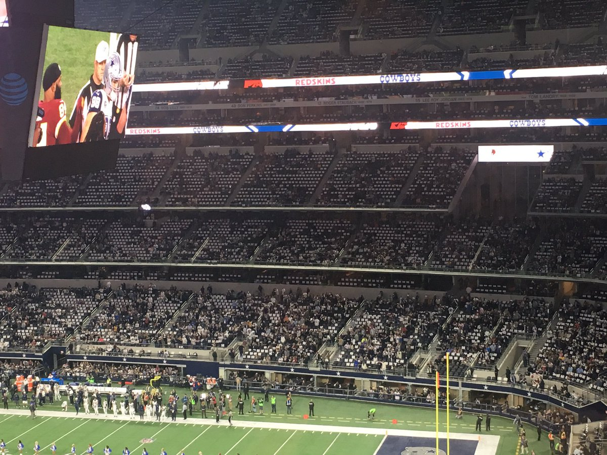Loads of empty seats in Dallas for Redskins Vs. Cowboys