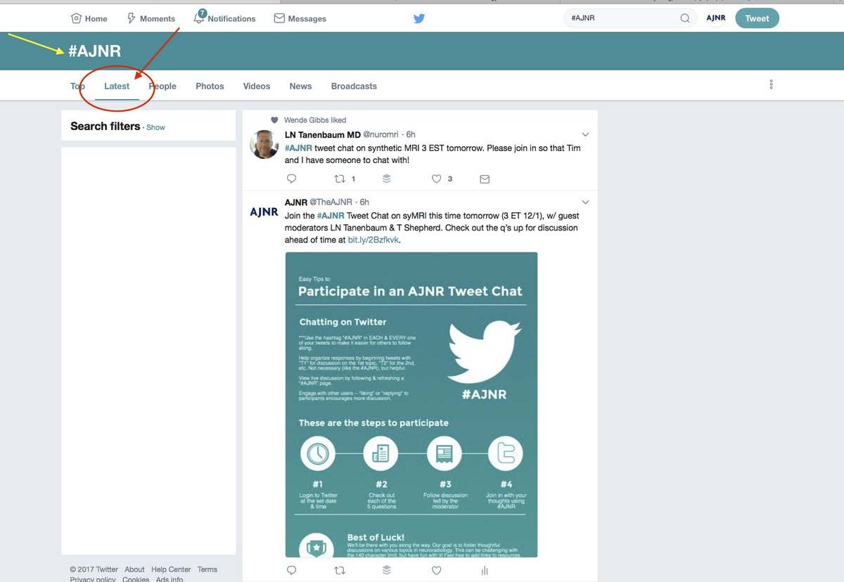 """Remember to use """"#AJNR"""" in each of your tweets, and follow the conversation live on the #AJNR feed under the """"Latest"""" tab. <br>http://pic.twitter.com/Gu1z5lu3oT"""