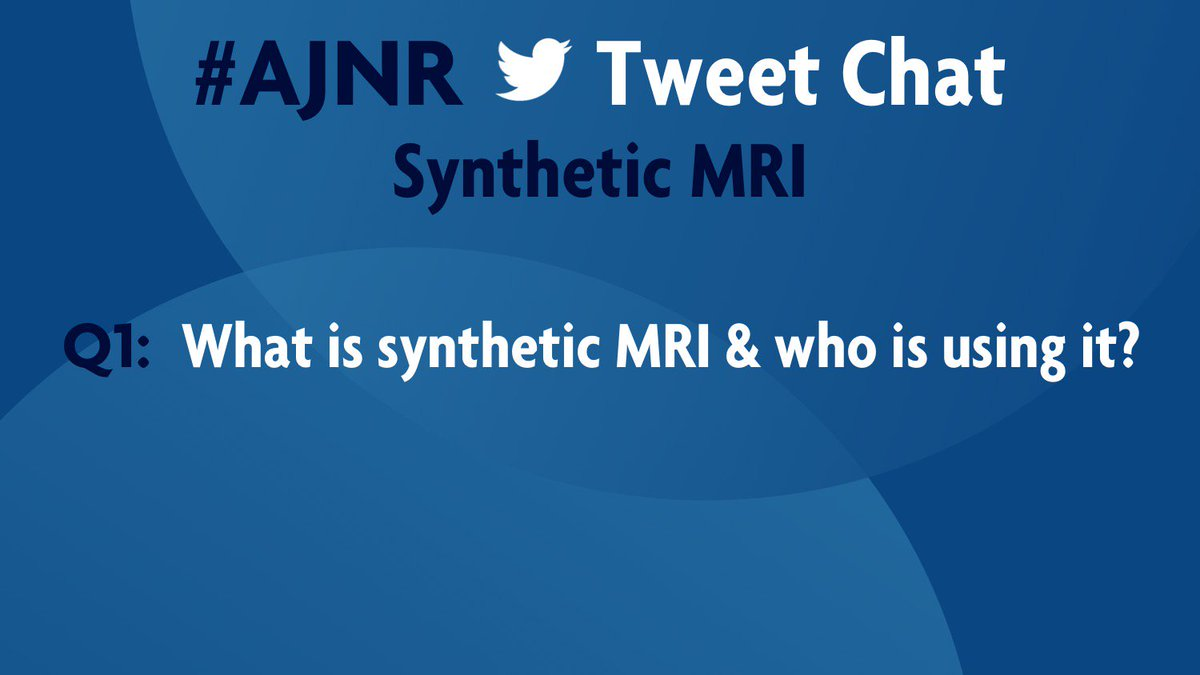 T1: What is synthetic MRI &amp; who is using it? #AJNR <br>http://pic.twitter.com/wlm3KfiGsa
