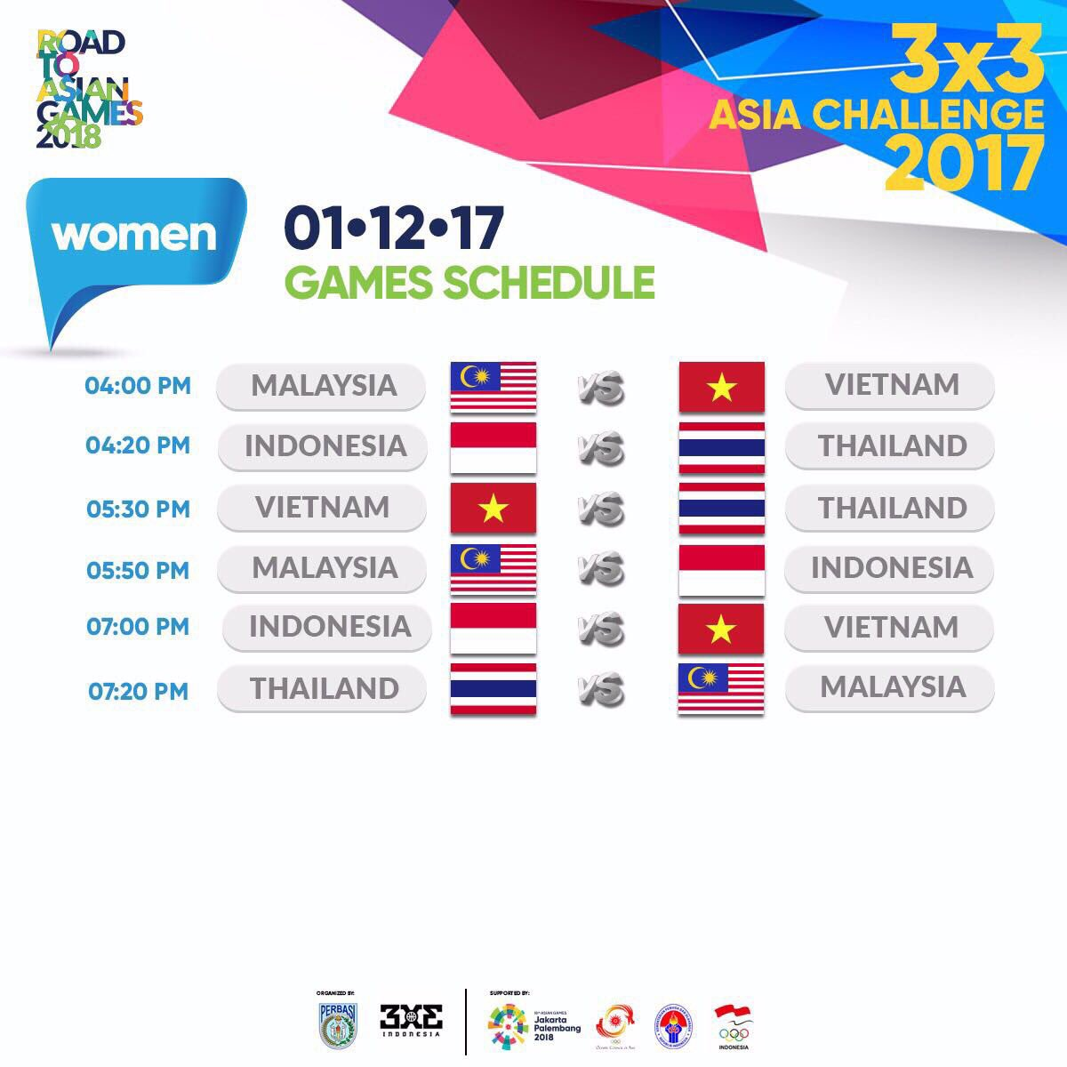 DP7Z QSVoAIADVP - Asian Games 2018 Schedule