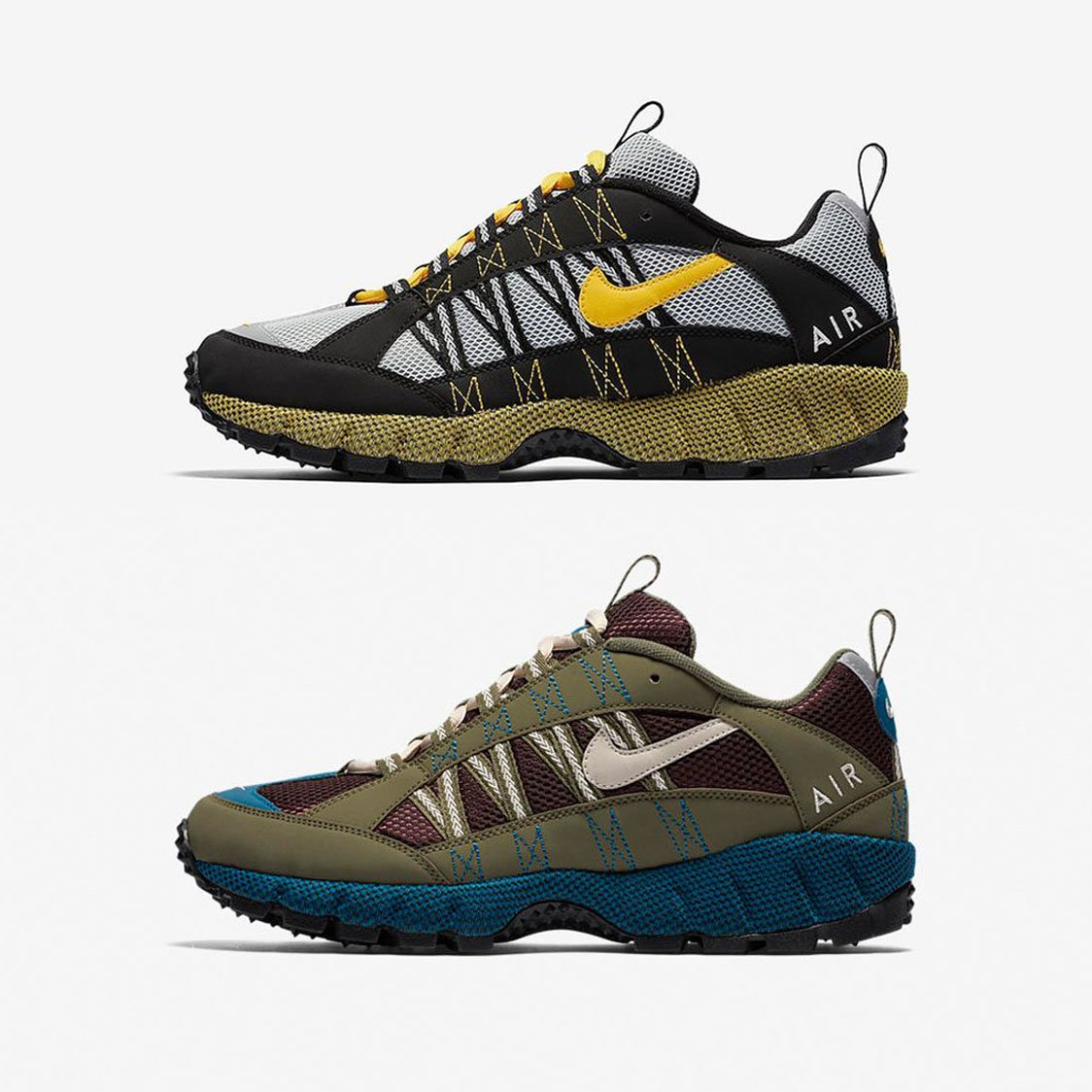 s air humara sneakers are releasing in 5 hours khaki blue burgundy black  grey yellow 157fced32