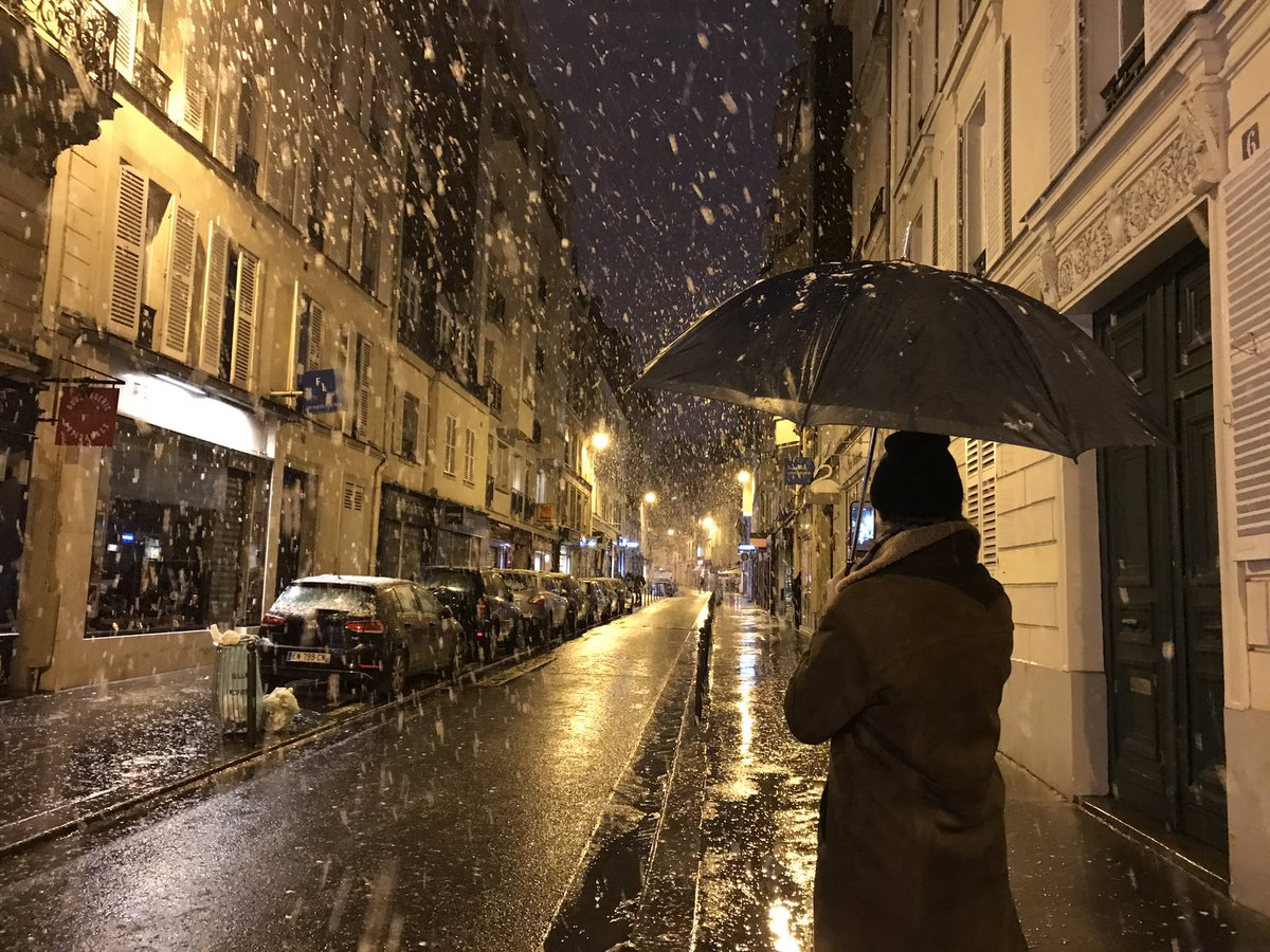 Oliver Gee On Twitter Beautiful Snow In Paris Last Night