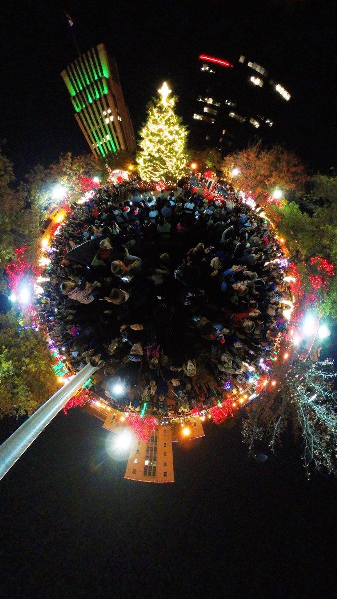 christmas tree lighting in downtown tyler texas visittyler tylertx tylertexas etx easttexas myetx etxtravel kltv kltv7 sendit7 insta360