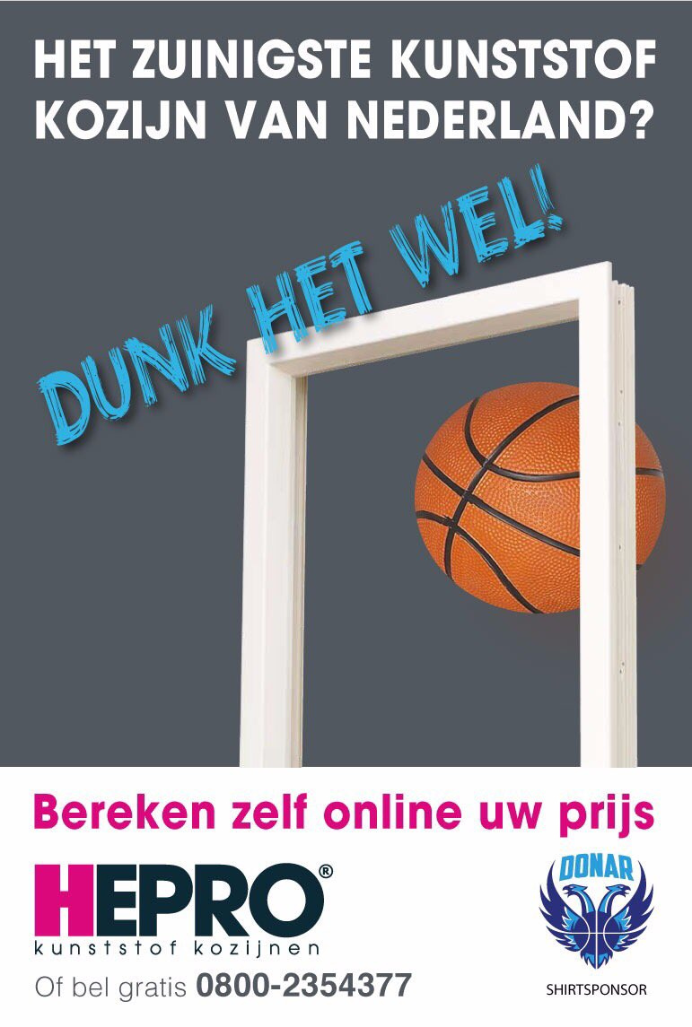 Vrijkaarten winnen voor de topper tegen Den Bosch aanstaande zondag om 15:00 uur in MartiniPlaza??? Dunk het wel! Namens onze shirtsponsor HEPRO kunststof kozijnen (@hepro_kozijnen) verloten wij 5 x 2 vrijkaarten. RT dit bericht en maak kans op deze vrijkaarten! #together #Donar https://t.co/ITxbJEDCjq