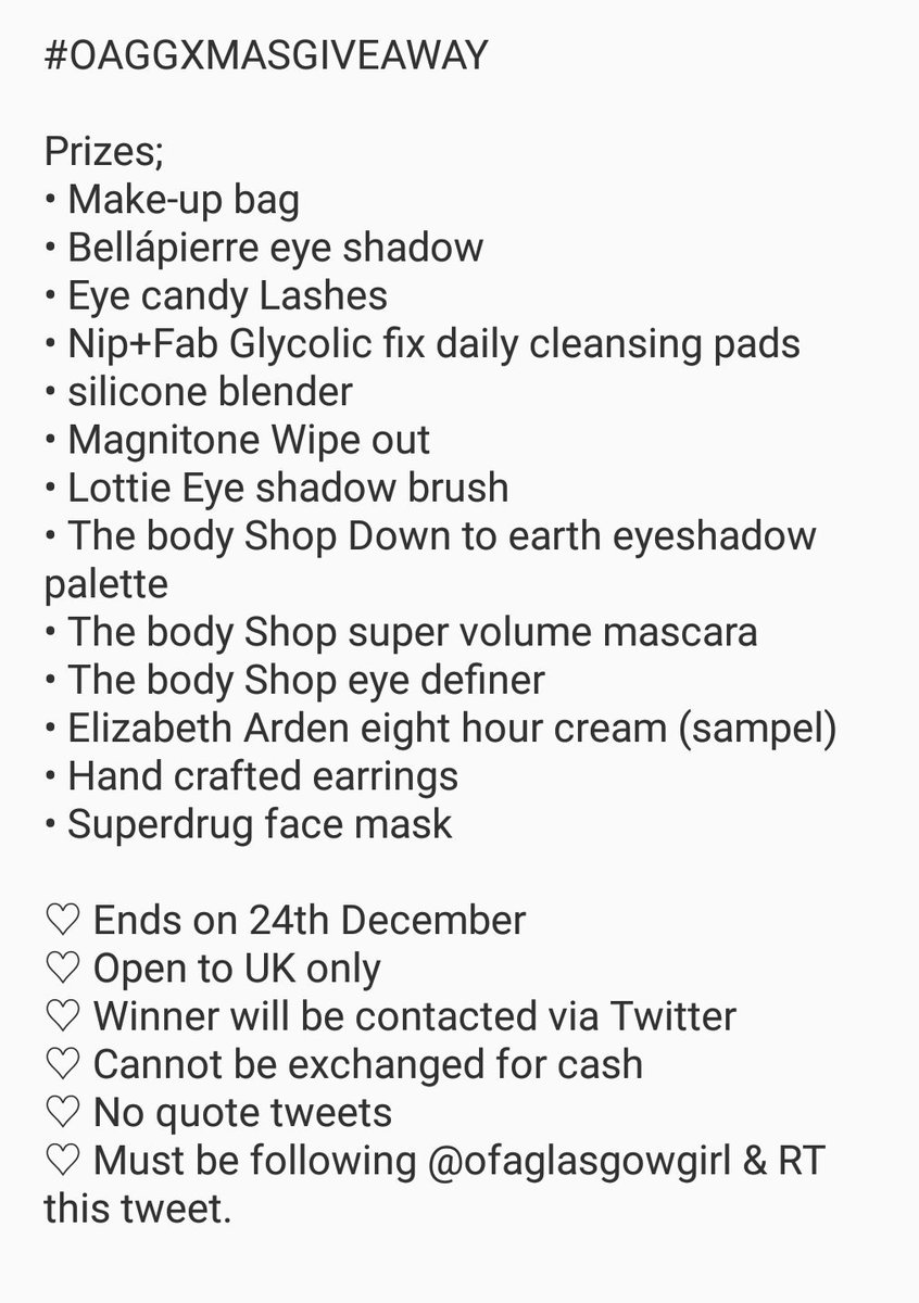 Ofaglasgowgirl On Twitter Its That Time Of Year Again Just Sampel Come Enter My Christmas Giveaway All You Have To Do Is Follow Me