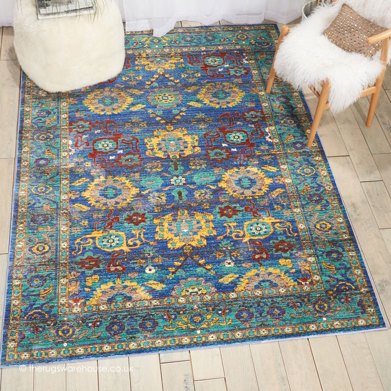... Jewel Hued Modern Synthetic Rug With A Traditional Style Pattern  Http://www.therugswarehouse.co.uk/traditional Rugs/delmar Rugs/delmar Blue  Rug.html U2026
