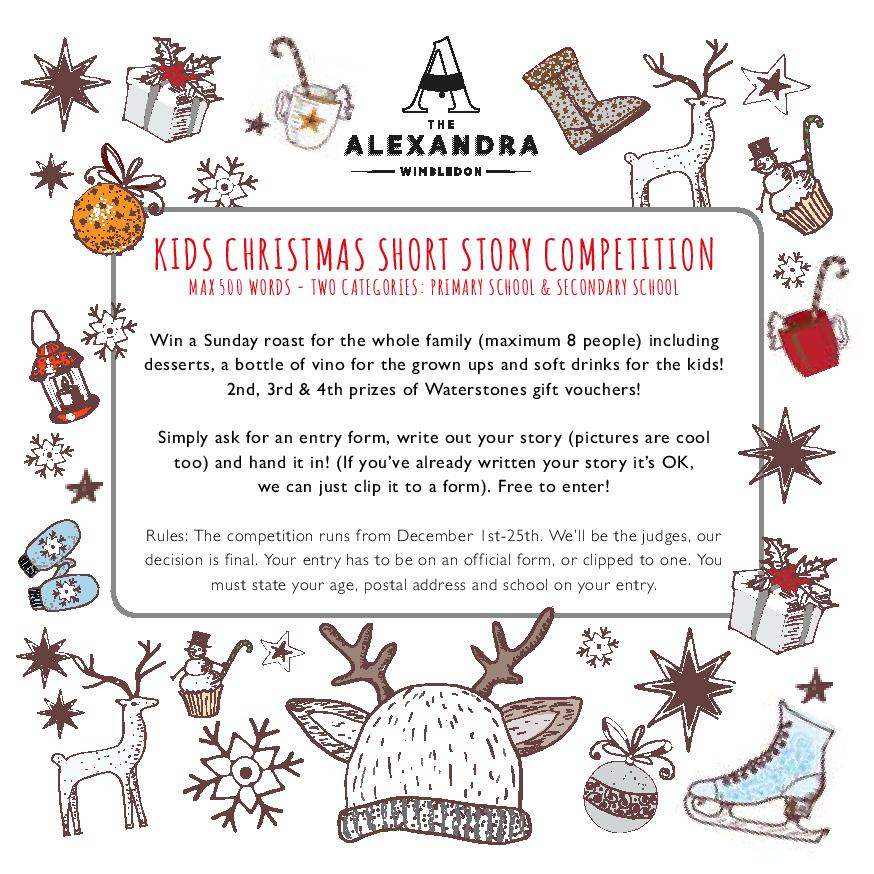 Christmas Short Stories.The Alexandra On Twitter Our Christmas Short Story Comp