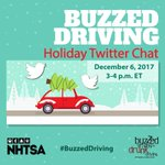 Keeping the roads safe is everyone's responsibility! Join our #BuzzedDriving Twitter Chat next week to get the facts about holiday driving.
