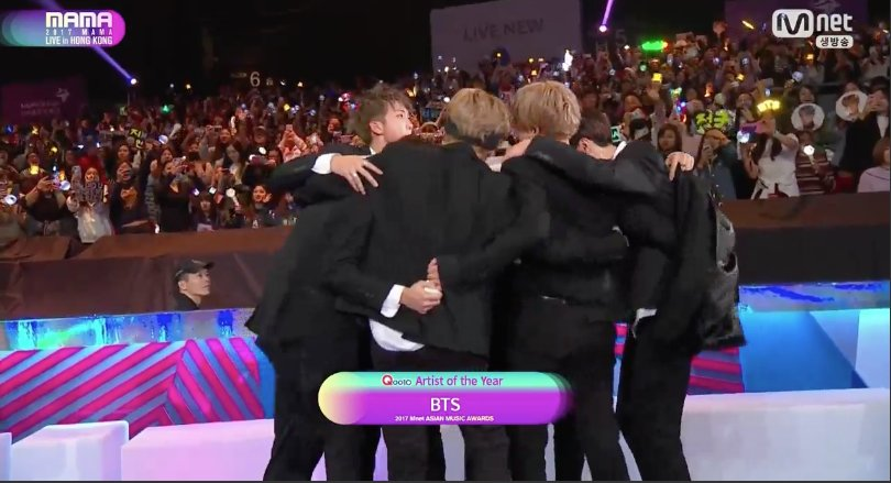 [#2017MAMA] Congratulations to Artiste of the Year #BTS !! #loveyourself #lovemyself