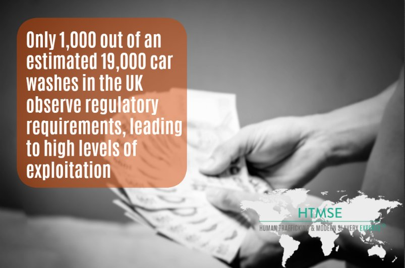 Customers have a key role in stamping out #ModernSlavery in the car wash industry - learn more on https://www.humantraffickingexperts.com/blog/