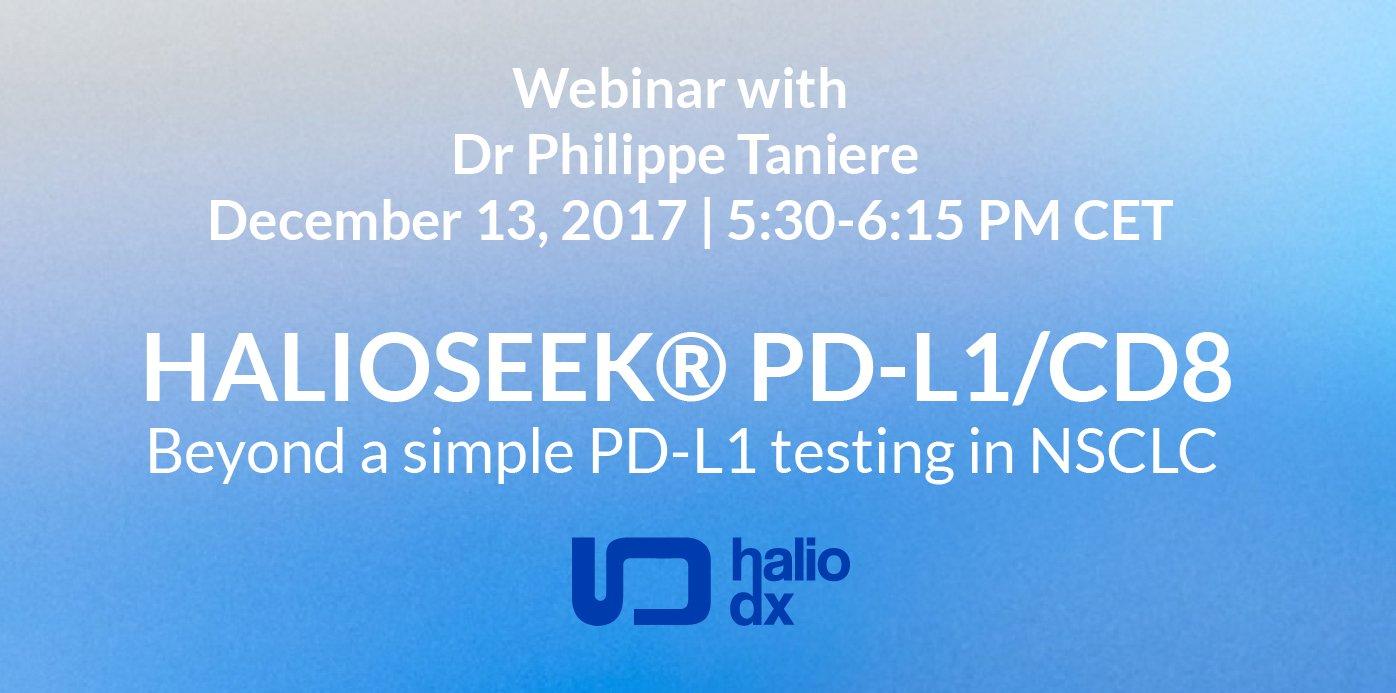 Haliodx On Twitter Register For Webinar December 13 Pd Simple Halioseek L1 Cd8 Beyond A Testing Https Tco Vusubngxbx Pdl1
