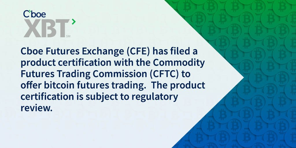 Cboe On Twitter Cboe Submits Product Certification For Bitcoin