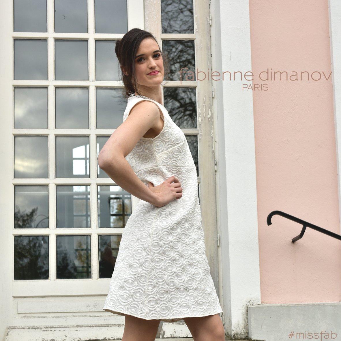 dc1a8468668 La petite robe trapèze Miss fab personnalisable - nouveau modèle 2018  signée Fabienne Dimanov Parispic.twitter.com EH5wstPqGN