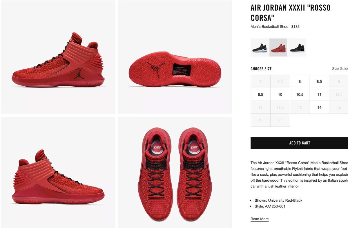 5b5e7310e3b2 Air Jordan XXXII Rosso Corsa University Red Black Men s Basketball Shoes