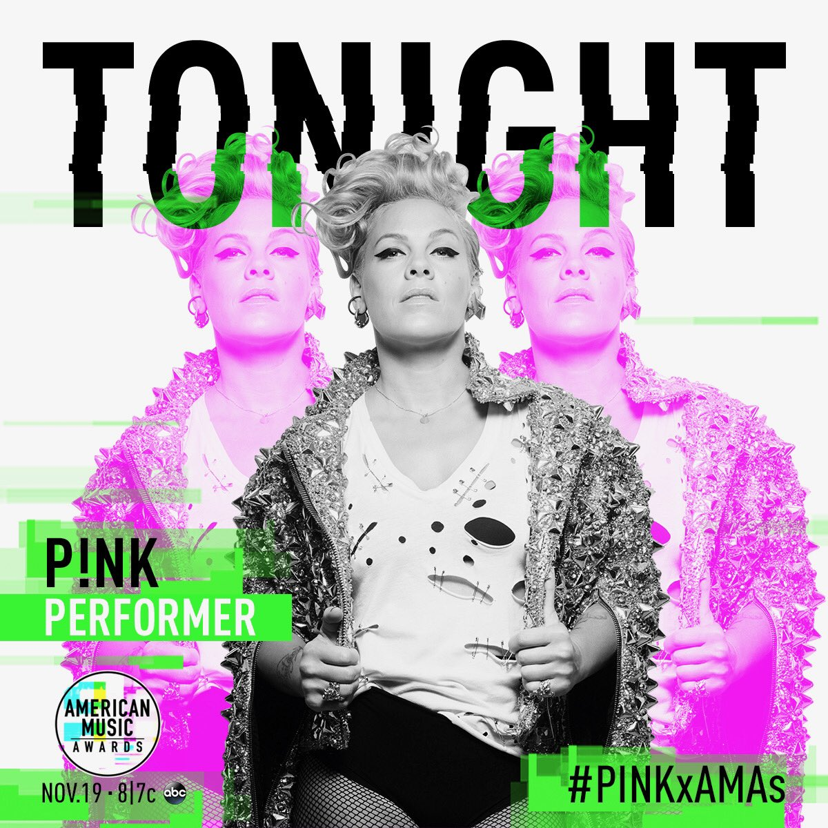 I'm SO EXCITED to perform at the @AMAs TONIGHT! It's going to be amazing. LIVE 8/7c on ABC! #PINKxAMAs #AMAs https://t.co/ZHBQEJbhzC