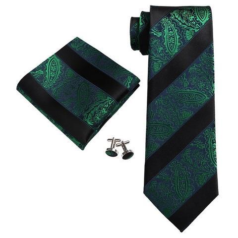 Mens Light Blue /& White Stripes 100/% Silk Neck Tie Set Cufflinks /& Hanky 18A45