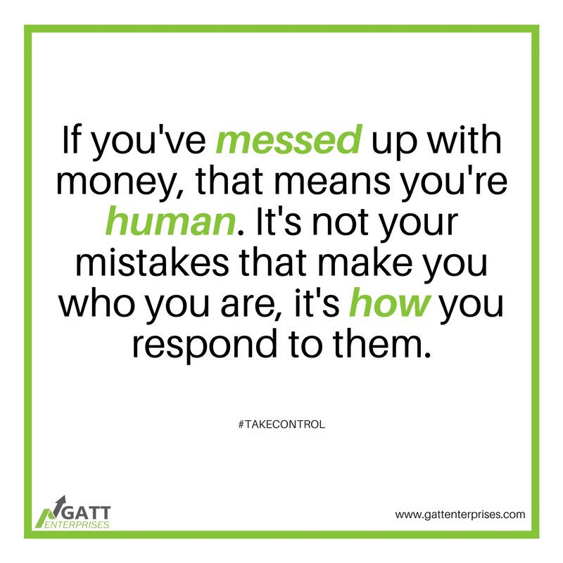 So you&#39;ve messed up with #money? The good news is we all have! Getting out of #debt is about learning from the #mistakes that got you there! Visit  http:// bit.ly/GATT4U  &nbsp;  . #GATTEnterprises #FinancialCoach #Mentor #Entrepreneur<br>http://pic.twitter.com/kADAO2Qmma