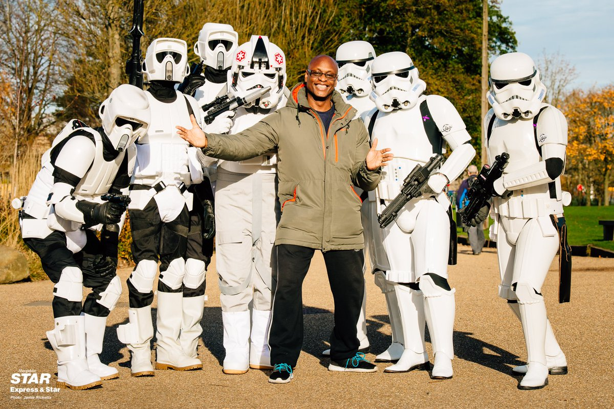 What an inspirational character Errol is! He is trying to raise a staggering amount of money for his daughters cancer treatment... Today he organised a Bike Ride with the support from our #StormTrooper friends! Story in tomorrows paper! #Telford @ShropshireStar @ExpressandStar.<br>http://pic.twitter.com/WmkXQpozBK