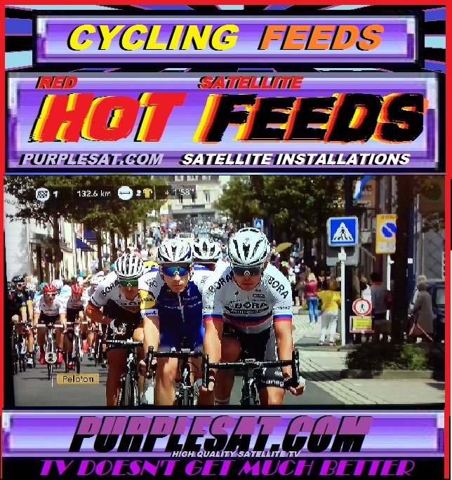 #CYCLISME  #SATELLITE OUTSIDE BROADCAST /STUDIO FEEDS   http://www. purplesat.com/index.php?p=1_ 30_SPORTS-FEEDS#CYCLING &nbsp; …   PURPLESAT<br>http://pic.twitter.com/HSkW23WeCY
