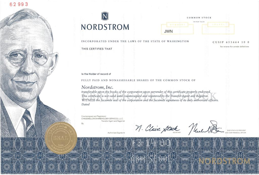 Nyse On Twitter What A Beautiful Stock Certificate