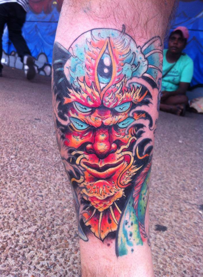 """My freehand sea demon thing by #Bradley Button at #Darwin #City #Tattoos, NT #Australia :) 4th session on my ongoing first..."" #ink #picspic.twitter.com/3hsk7SMTdA"