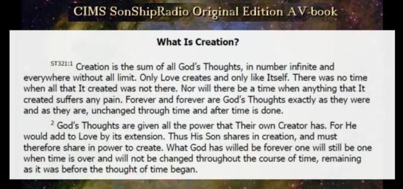 What is Creation? #ACIM Special Topic video --&gt;  http:// bitly.com/SonShipVIDEO-W hatIsCreation &nbsp; …  ____  http:// conta.cc/2AbINOT  &nbsp;  <br>http://pic.twitter.com/pCewzSOkeK