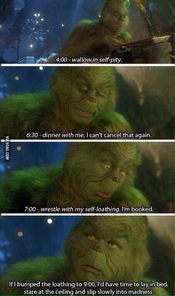 My schedule as the semester comes to an end