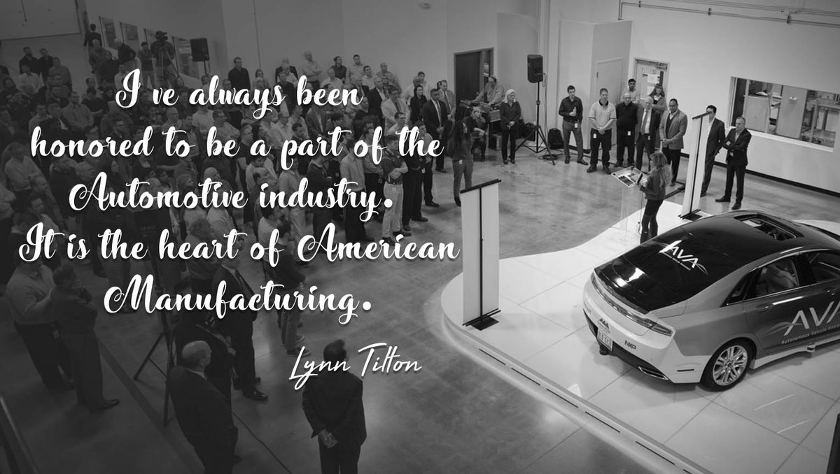 I have always been honored to be a member of the #Automotive community. It is indeed the heart of American #Manufacturing.<br>http://pic.twitter.com/RjXRI5JrJy