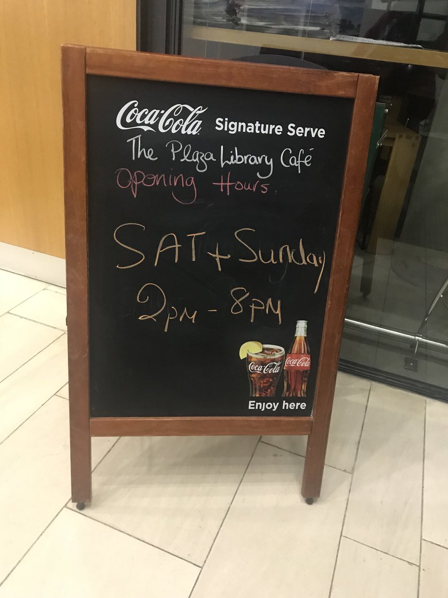 We are open until 10pm tonight and all your catering needs are looked after in the Plaza Cafe in the library too #studyatUL #week12 #collegelife #UL<br>http://pic.twitter.com/cY4kQkeXdp
