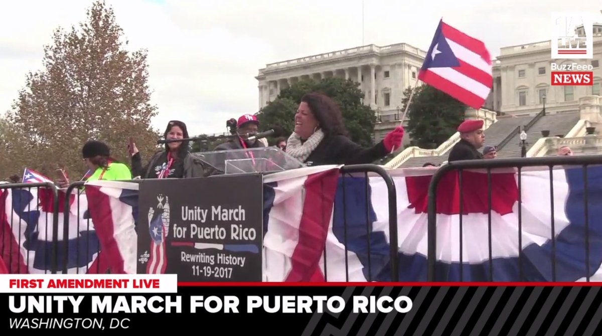 People in DC are marching for Puerto Rico and calling for legislative changes to relief efforts. https://t.co/yPzFpR2aVD #PuertoRicoUnityMarch