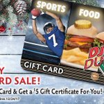 Holiday shopping made easy! Buy a $25 Gift Card & get a $5 Gift Certificate for you! See store for details. Visit a DJ's Dugout near you!