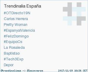 'Baptistao' acaba de convertirse en TT ocupando la 8ª posición en España. Más en https://t.co/K5DFqqcseW #trndnl https://t.co/TJTA3GLdDI