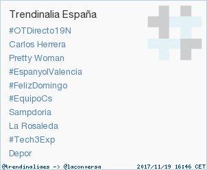 'Sampdoria' acaba de convertirse en TT ocupando la 7ª posición en España. Más en https://t.co/K5DFqqcseW #trndnl https://t.co/EtYmBbSjr5