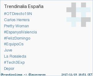 'Juve' acaba de convertirse en TT ocupando la 7ª posición en España. Más en https://t.co/K5DFqqcseW #trndnl https://t.co/C2L0CMXfWA