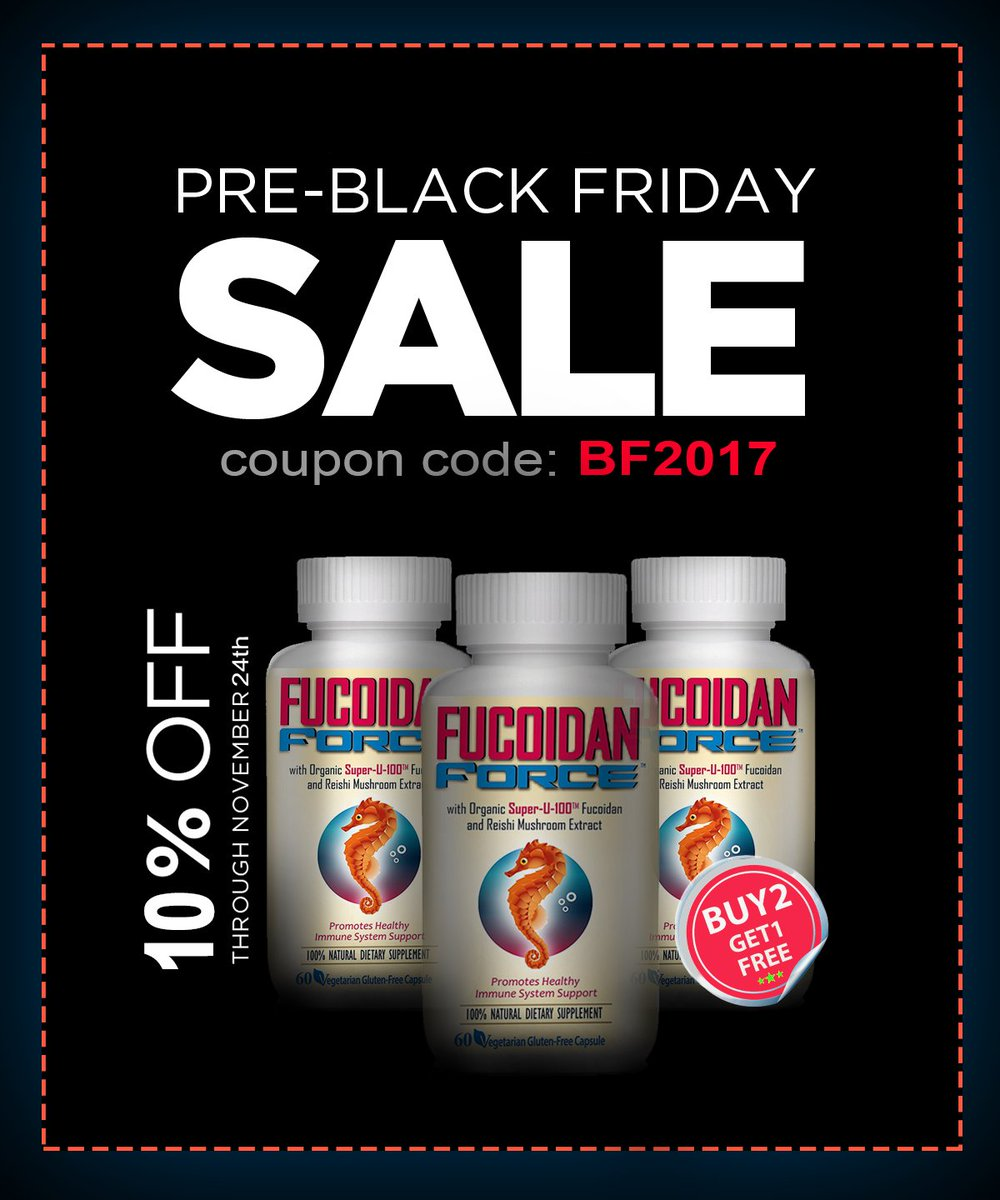 Early Holiday Shopping Mood? Get 10% OFF!!!!   http:// FucoidanForce.com  &nbsp;    use promo code BF2017 #fucoidan #health #sale #CouponCode #SundayMorning <br>http://pic.twitter.com/phsVShP3Zo