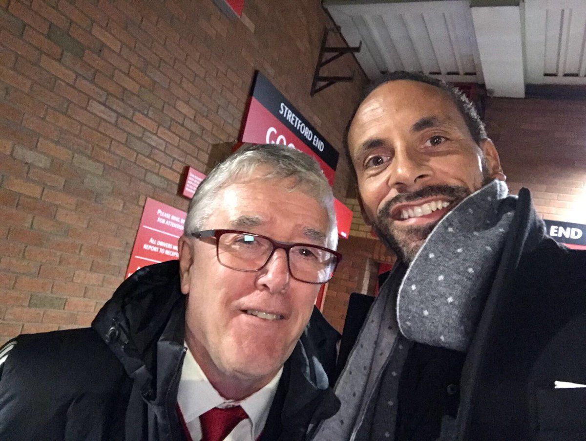 Great seeing this legend yesterday..... Albert the kitman! Love this guy. Spent 5mins reminiscing!! #mufc