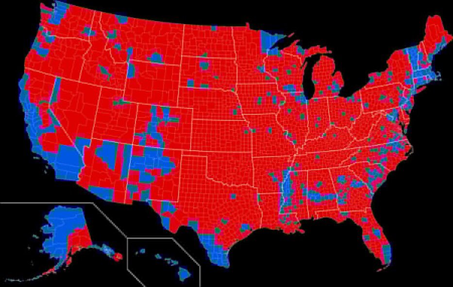 #maga when you show maps like this (p1)—You're only looking at land mass.  #LosAngeles COUNTY has more residents than these 41 states(p2)  This is the UNITED States. Why should somebody's vote for OUR leader matter more in WI than someone in #LA?  Electoral College = No Democracy <br>http://pic.twitter.com/mBlq84DO3m
