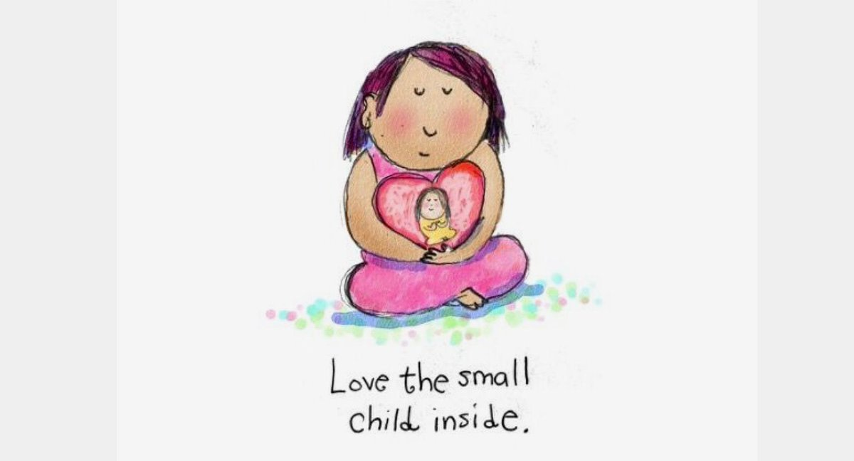 Have you hugged your inner child today?  Loving yourself is a first step to #healing.  #loveyourself @RespectYourself  http:// Mycouragetotell.com  &nbsp;  <br>http://pic.twitter.com/Raq7fexzZE