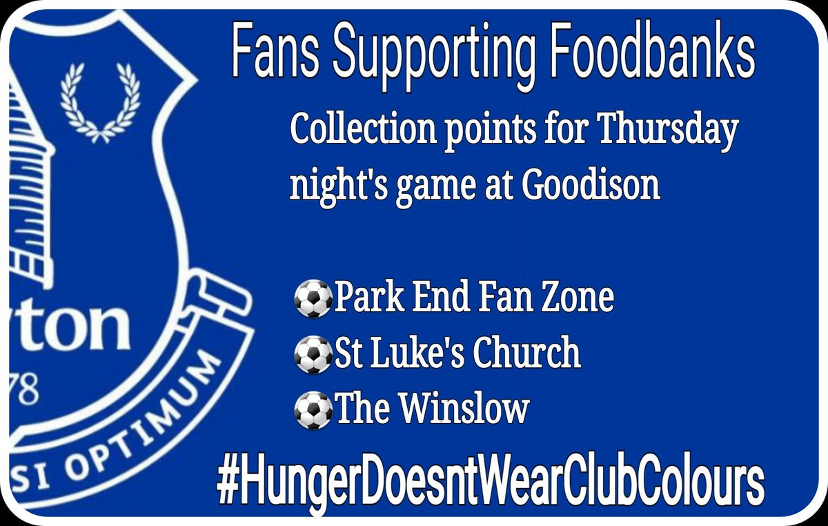 Fans Supporting Foodbanks On Twitter Foodbank Collections