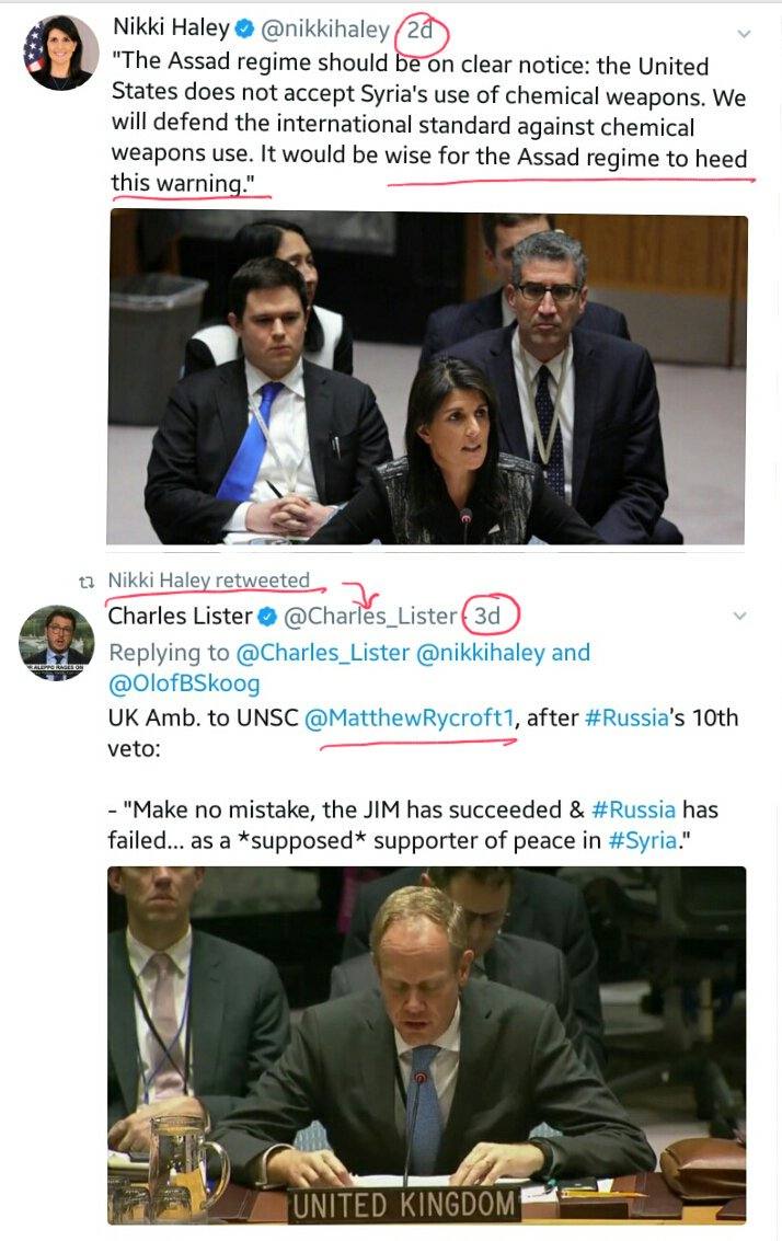 Coincidence?  After #US &amp; #UK statements at #UN ...  Yet another #hoax &#39;#Sarin attack&#39;, this time in #EastGhouta #Harasta  Claims coming from &#39;moderate&#39; terrorist&#39;s &quot;media center&quot; (like in #Aleppo, #KhanSheykhun) &amp; amplified by #Bellingcat (as usual)  #Syria<br>http://pic.twitter.com/kTOpwnAPQV