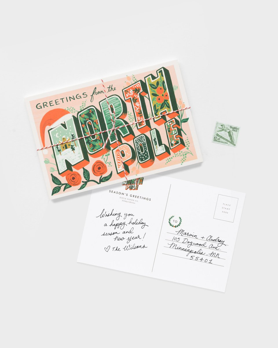 Rifle paper co on twitter holiday postcards are the fastest way rifle paper co on twitter holiday postcards are the fastest way to send holiday greetings to everyone on your list ps they require less postage than m4hsunfo