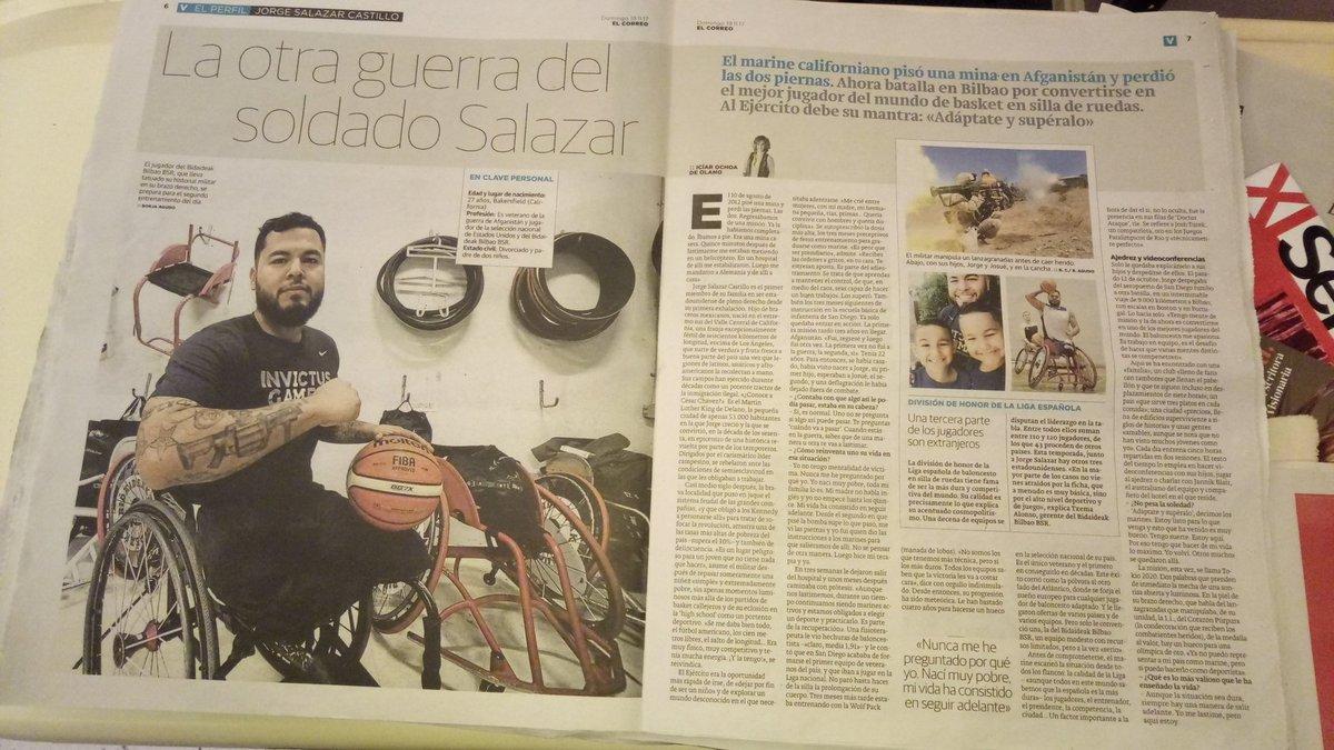 Reportaje  del jugador @BilbaoBSR en el...