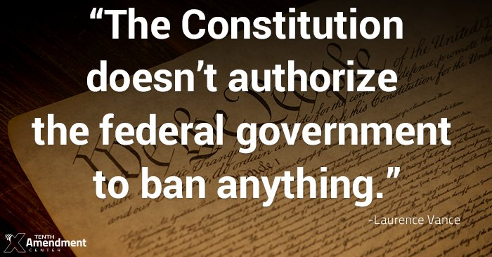 &quot;One can search the #Constitution all day &amp; night with an electron microscope, x-ray vision, the latest NSA spyware and never find the hint of a reference to the federal government having the authority to prohibit Americans from possessing some object.&quot;   http:// bit.ly/1IGoHV3  &nbsp;  <br>http://pic.twitter.com/MuklJRtpfu