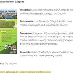 El proyecto LIFE Zaragoza Natural (12/ENV/ES/000567) estará presente en #EUGIC2017 (European Urban Green Infrastructure Conference) Budapest 29 al 30/11/2017 #InfraestructuraVerde #PDIVZ #life25natura @LIFEzgznatural @CEEwebEurope